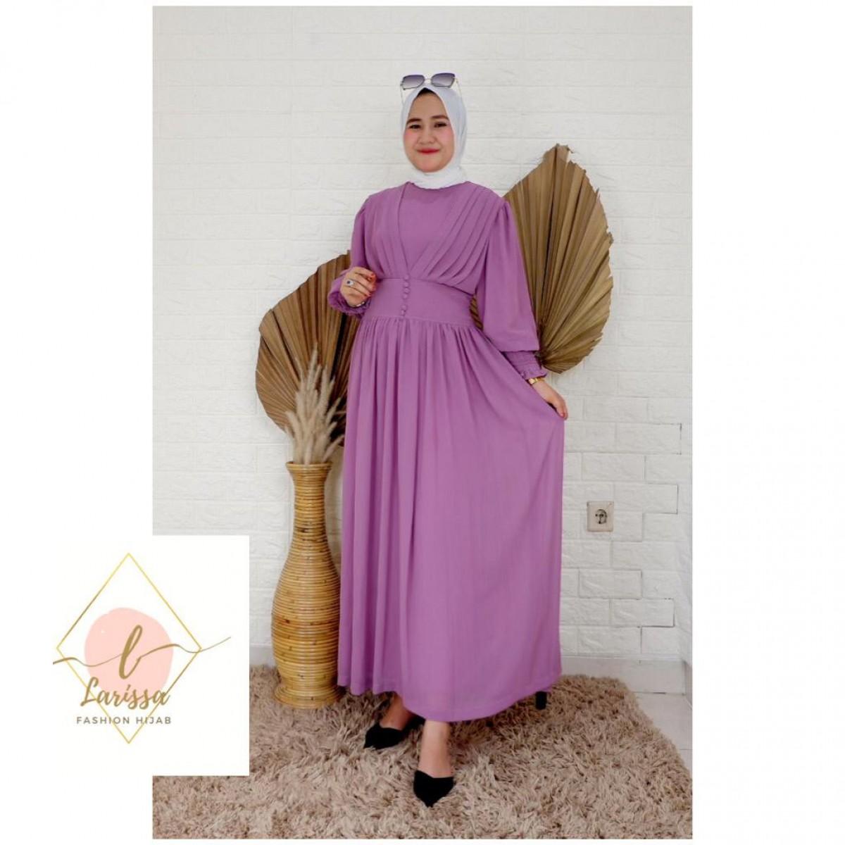 Dress Mutia Pink - Larissa premium