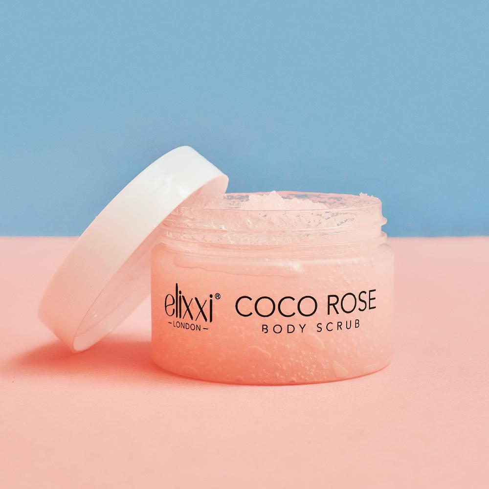Elixxi Coco Rose Body Scrub (160g)