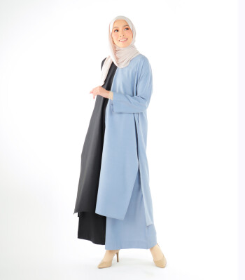 INHANNANA MAHAZAN IN STEEL BLUE BLACK