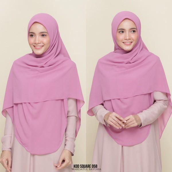SQUARE PLAIN - Wardatul Baydha Hijab