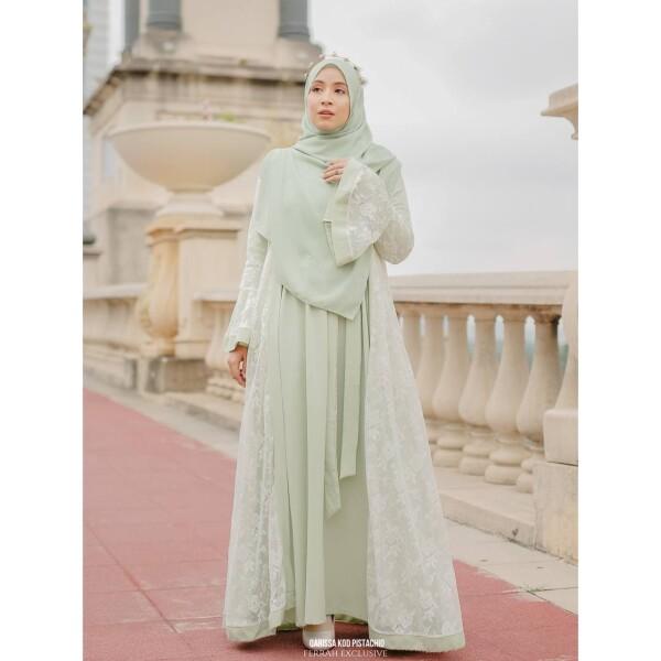QARISSA ABAYA - Wardatul Baydha Hijab