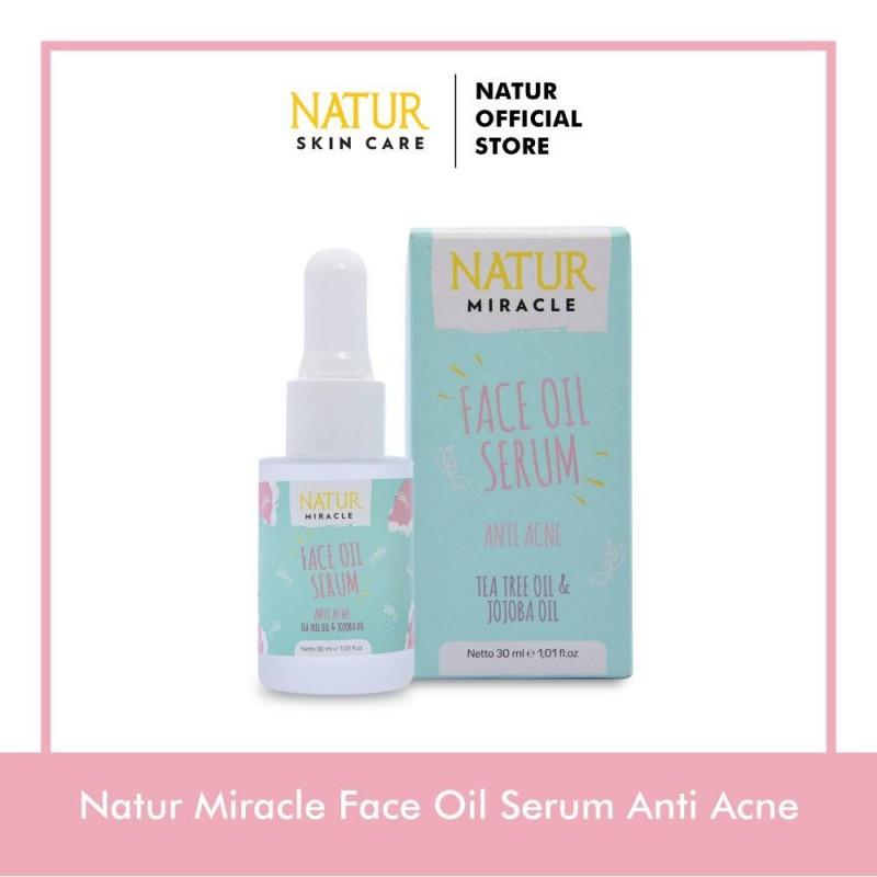 Natur Miracle Anti Acne Face Oil Serum :Tea Tree Oil & Jojoba Oil