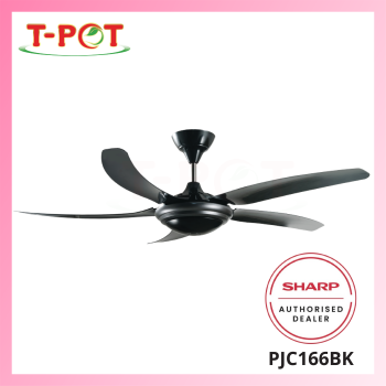 """SHARP 56"""" Ceiling Fan PJC166BK"""