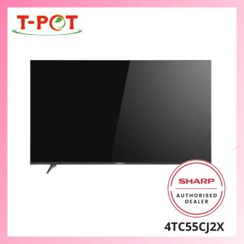 """SHARP 55"""" 4K UHD Smart TV 4TC55CJ2X"""