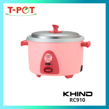 KHIND 1L Rice Cooker With Steamer RC910