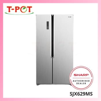 SHARP 620L Side By Side Refrigerator SJX629MS