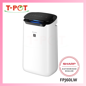 SHARP 48m² Plasmacluster Technology Air Purifier - FPJ60LW