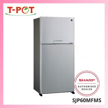 SHARP 610L 2-Door Inverter Refrigerator SJP60MFMS