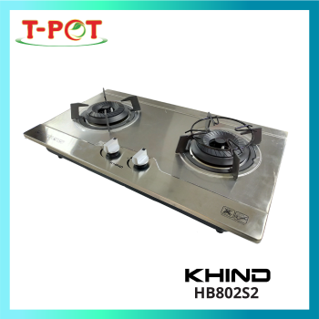 KHIND Built-in Stainless Steel Gas Hob HB802S2