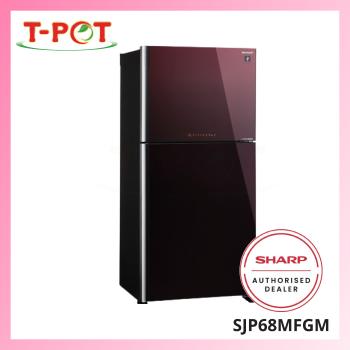 SHARP 610L 2-Door Refrigerator SJP68MFGM