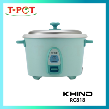 KHIND 1.8L Rice Cooker With Steamer RC818