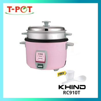KHIND 1L Rice Cooker With Steamer RC910T