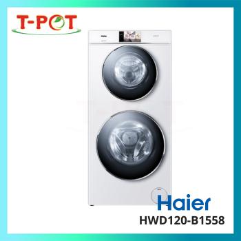 HAIER 8kg Dual Drum Inverter Washer & Dryer HWD120-B1558