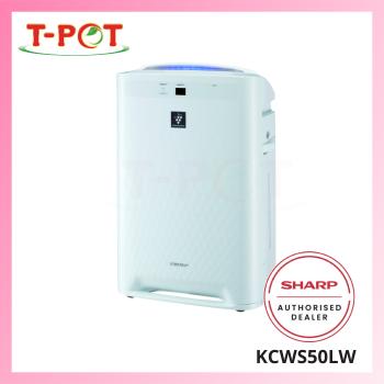 SHARP 23m² Plasmacluster Humidifying Air Purifier KCWS50LW