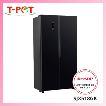 SHARP 500L Side By Side Refrigerator SJX518GK