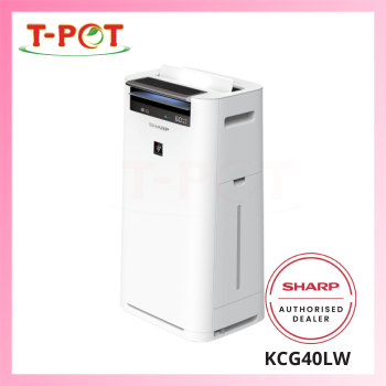 SHARP 28m² Plasmacluster Humidifying Air Purifier KCG40LW