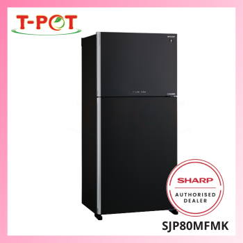 SHARP 720L 2-Door Refrigerator SJP80MFMK