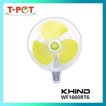 """KHIND 16"""" Wall Fan With Remote Control WF1660RT6"""