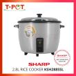 SHARP 2.8L NON-STICK POT RICE COOKER KSH288SSL - T-Pot @ Kota Kemuning