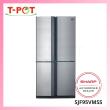 SHARP 750L French Door Refrigerator SJF95VMSS - T-Pot @ Kota Kemuning