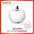 SHARP 0.72L Mini Rice Cooker KSP8MVWH - T-Pot @ Kota Kemuning