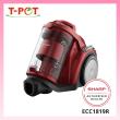 SHARP 1800W Bagless Vacuum Cleaner ECC1819R - T-Pot @ Kota Kemuning