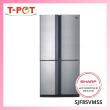 SHARP 700L French Door Refrigerator SJF85VMSS - T-Pot @ Kota Kemuning