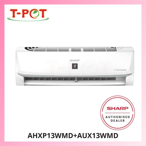 SHARP 1.5HP Inverter Plamacluster Air Conditioner AHXP13WMD - T-Pot @ Kota Kemuning