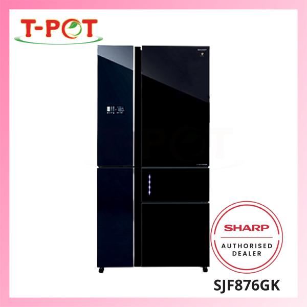 SHARP 800L French Door Refrigerator SJF876GK - T-Pot @ Kota Kemuning