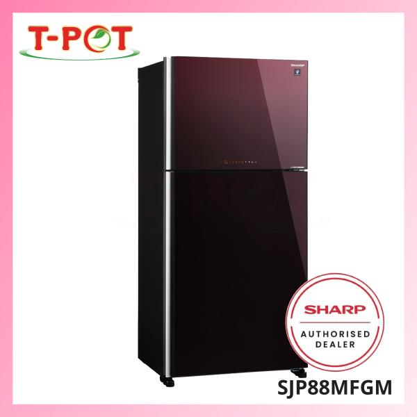 SHARP 720L 2-Door Refrigerator SJP88MFGM - T-Pot @ Kota Kemuning