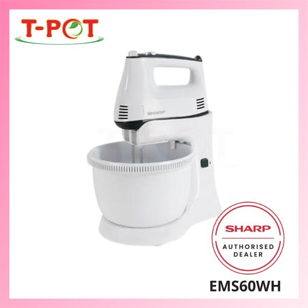 SHARP 300W Stand/Hand Mixer EMS60WH - T-Pot @ Kota Kemuning