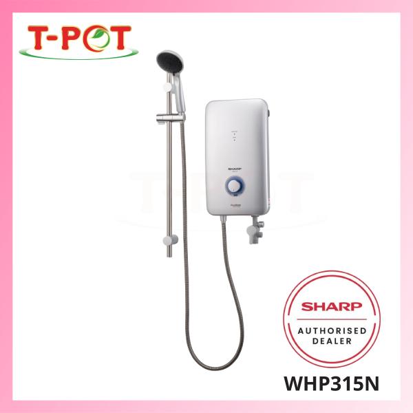 SHARP Shower Heater with DC Pump WHP315N - T-Pot @ Kota Kemuning