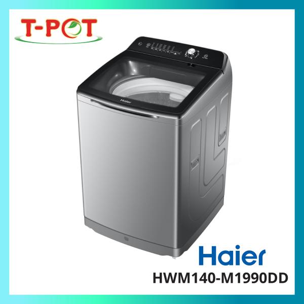 HAIER 14kg Top Load Inverter Washing Machine HWM140-M1990DD - T-Pot @ Kota Kemuning