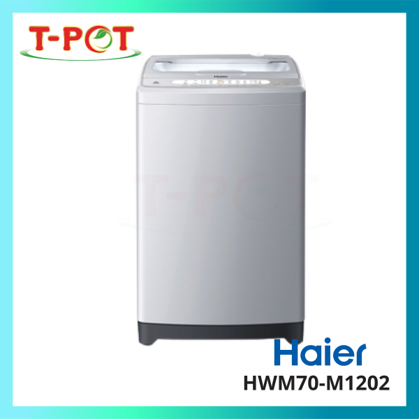 HAIER 7kg Top Load Washing Machine HWM70-M1201 - T-Pot @ Kota Kemuning