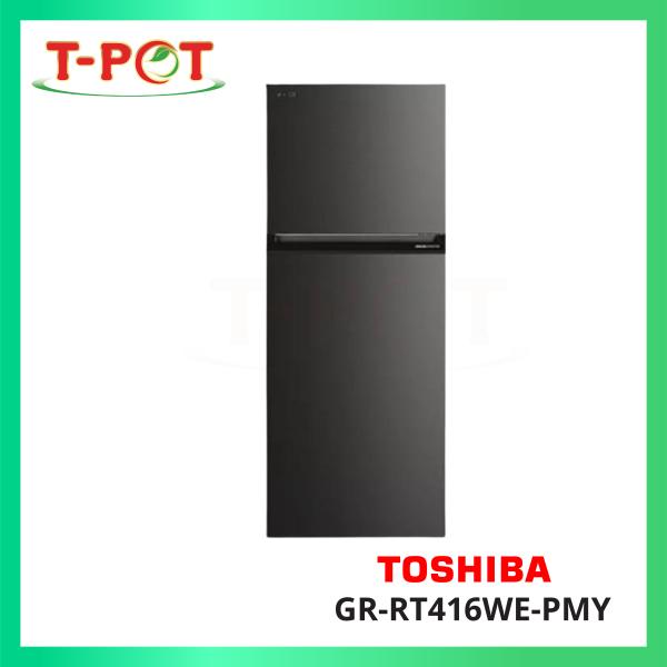 TOSHIBA 360L 2-Door Inverter Refrigerator GR-RT416WE-PMY - T-Pot @ Kota Kemuning