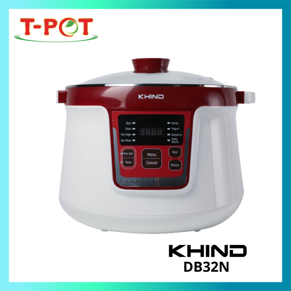 KHIND 3.2L Double Boiler DB32N - T-Pot @ Kota Kemuning