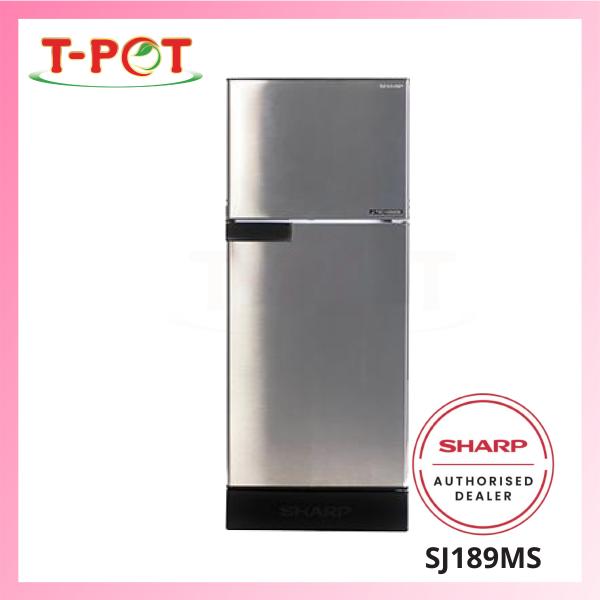 SHARP 170L 2-Door Inverter Refrigerator SJ189MS - T-Pot @ Kota Kemuning