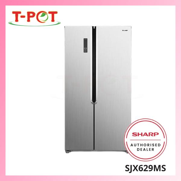 SHARP 620L Side By Side Refrigerator SJX629MS - T-Pot @ Kota Kemuning