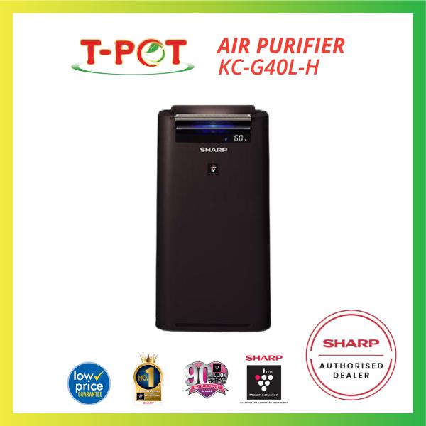 SHARP Humidifying Plasmacluster Air Purifier KCG40LH - T-Pot @ Kota Kemuning