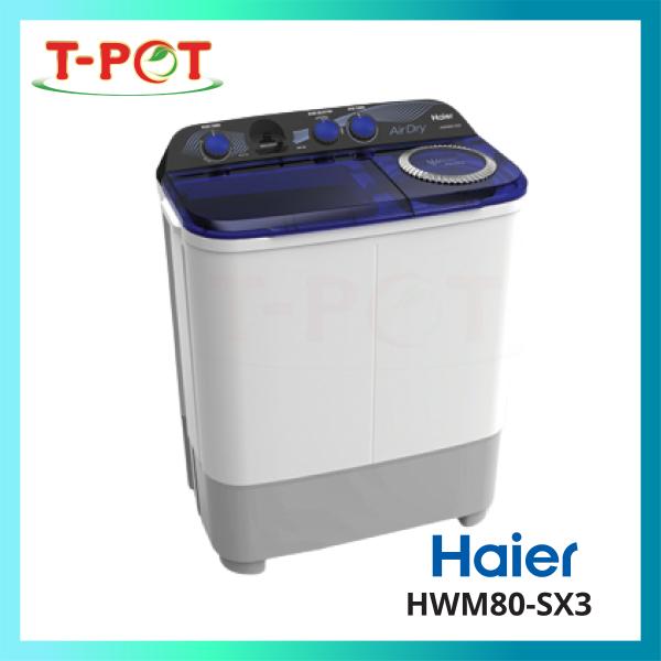 HAIER 6kg Semi Auto Washing Machine HWM60-SX3 - T-Pot @ Kota Kemuning