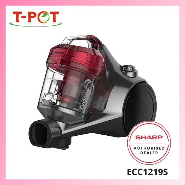 SHARP 1200W Bagless Vacuum Cleaner ECC1219S - T-Pot @ Kota Kemuning