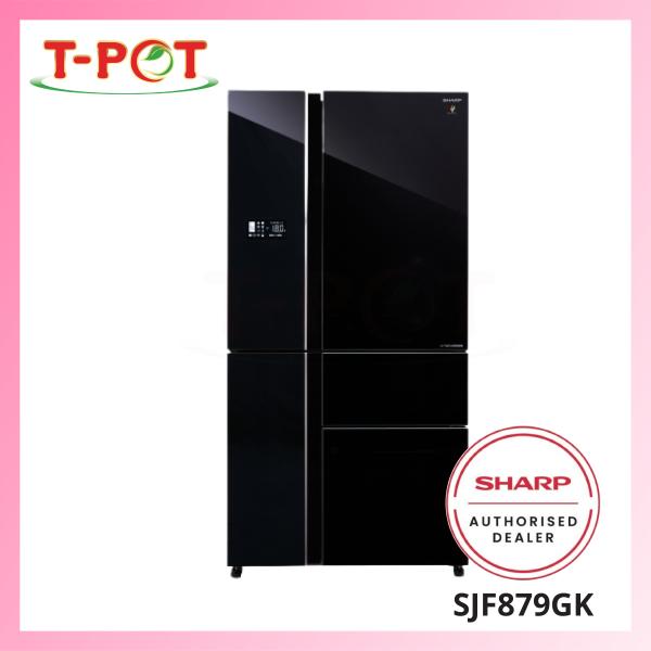 SHARP 800L French Door Inverter Refrigerator SJF879GK - T-Pot @ Kota Kemuning