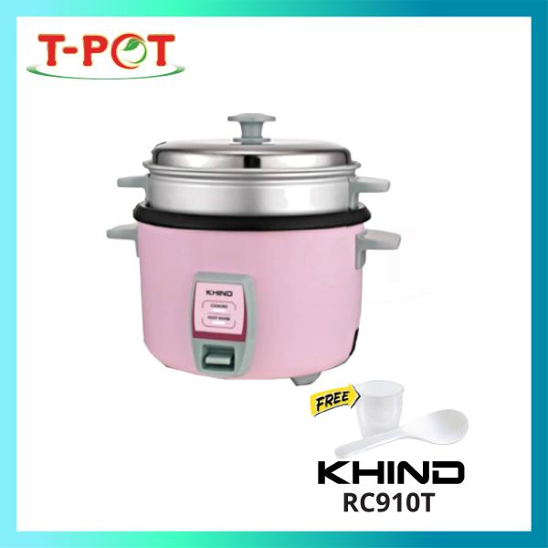 KHIND 1L Rice Cooker With Steamer RC910T - T-Pot @ Kota Kemuning