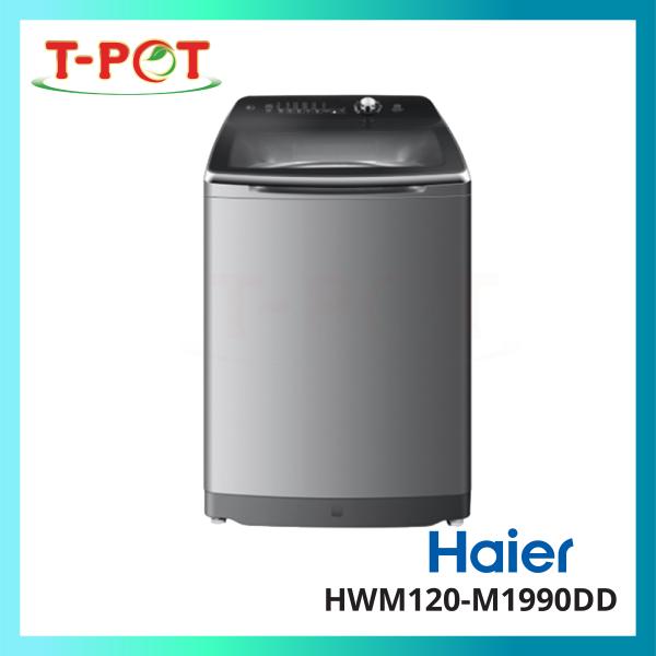 HAIER 12kg Top Load Inverter Washing Machine HWM120-M1990DD - T-Pot @ Kota Kemuning