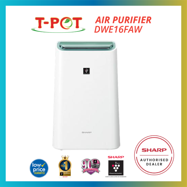 SHARP 2 In 1 Air Purifier Dehumidifier DWE16FAW - T-Pot @ Kota Kemuning