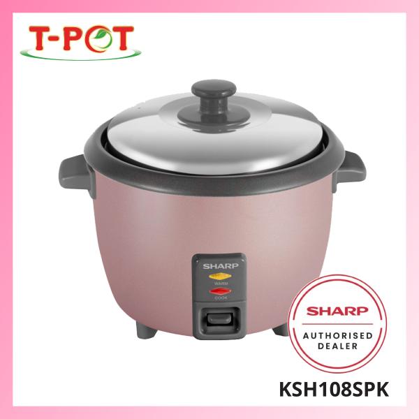 SHARP 1.0L Rice Cooker KSH108SPK - T-Pot @ Kota Kemuning