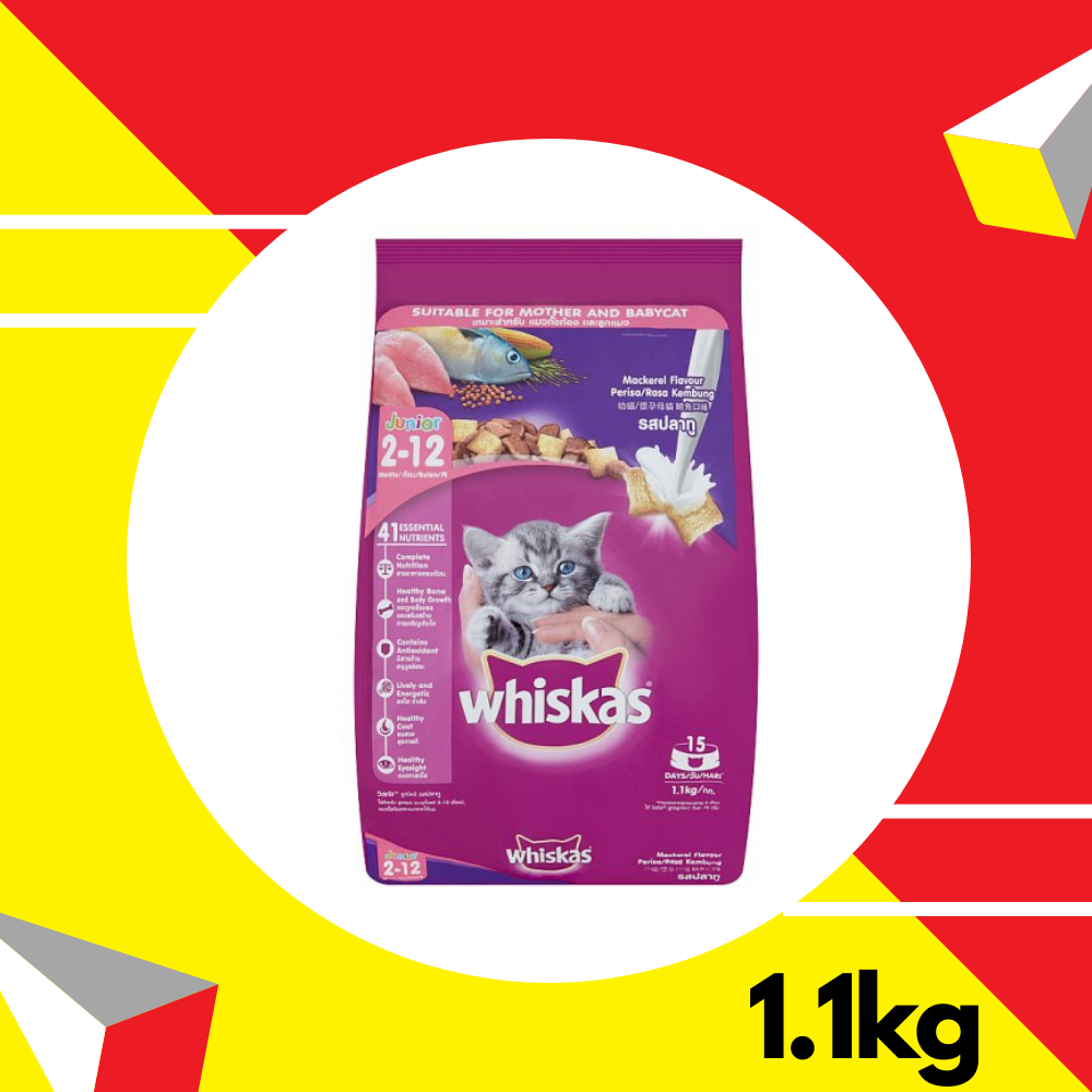 Whiskas Junior Mackerel 1.1kg