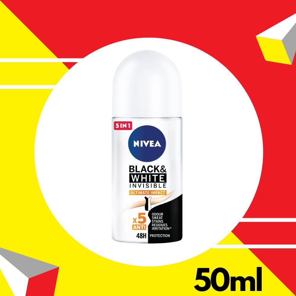 Nivea Deodorant Female Black & White Ultimate Impact Roll On (NEW
