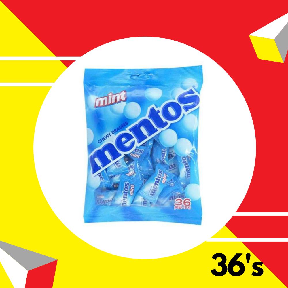 Mentos Pouch Bag Mint 36s
