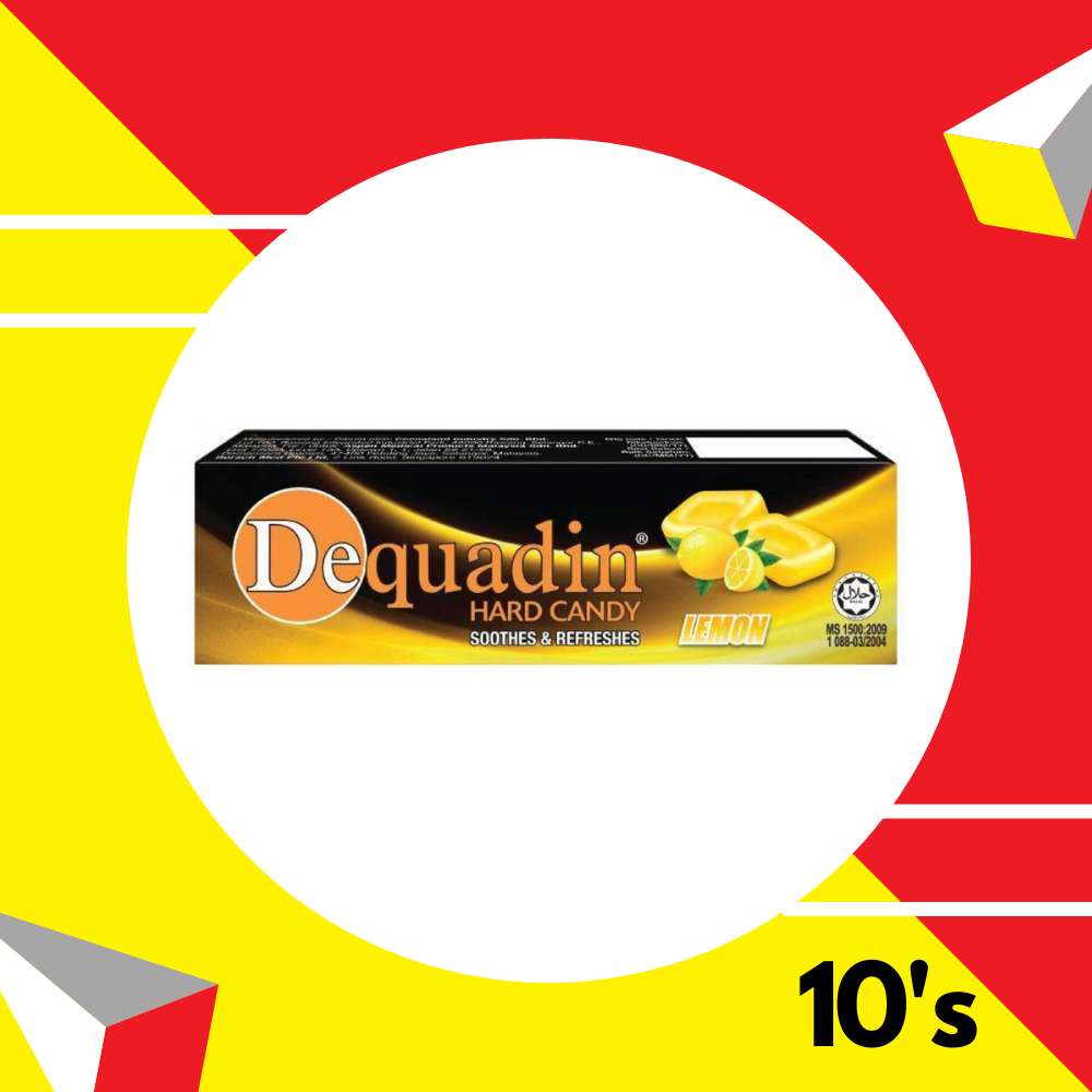 Dequadin Hardcandy Lemon  10's